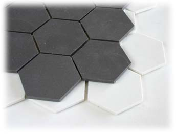 Unglazed 2 Series Hex Hexagon Tile